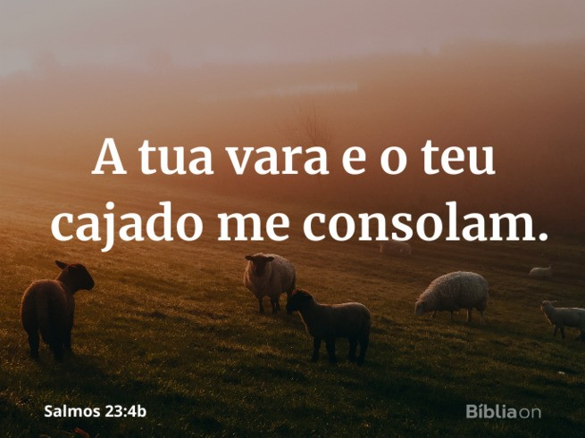 a tua vara e o teu cajado me consolam salmo 23 4