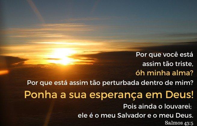 Verdades para tempos de tristeza - Versículo Salmo 43:5
