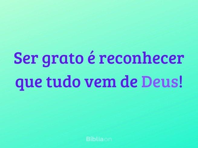 Ser grato a Deus