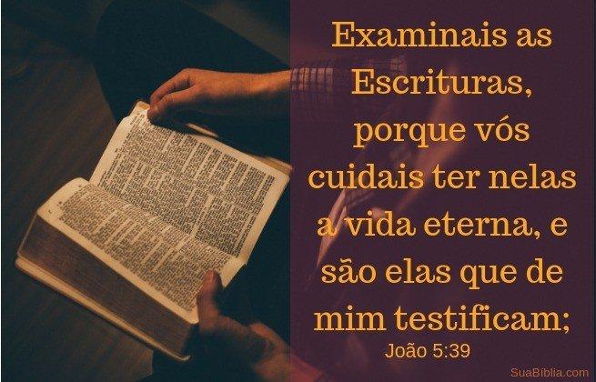 Bíblia - examinai Escrituras