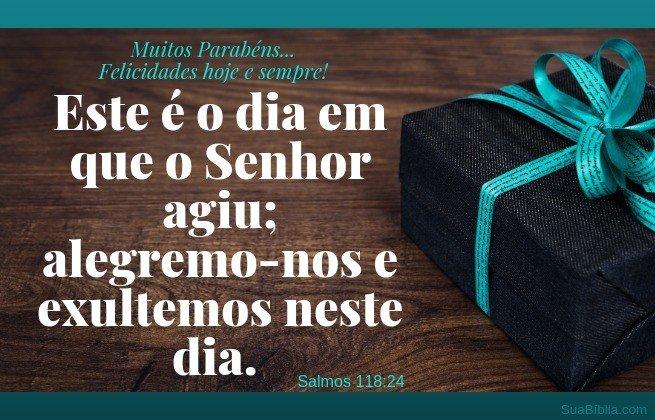 vers. aniversário salmos 118:24