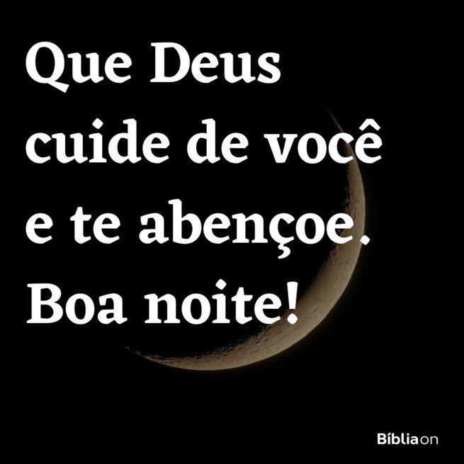 Deus te abençoe boa noite