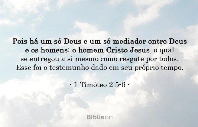 1 Timóteo 2:5-6