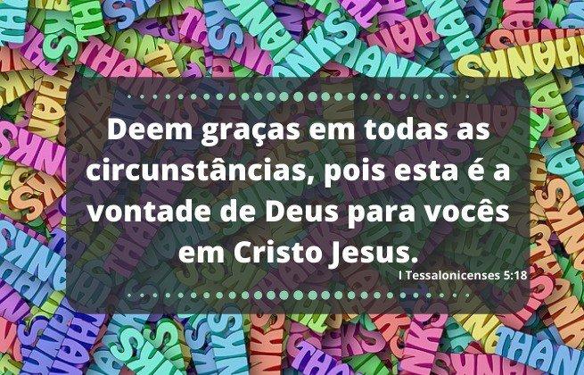 Ensine valores - gratidão 1ª Tessalonicenses 5:18