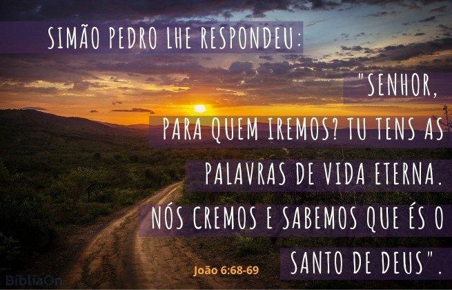 Imagem caminho - Versículo João 668-69 - Para quem iremos, só tu tens as palavras de Vida eterna