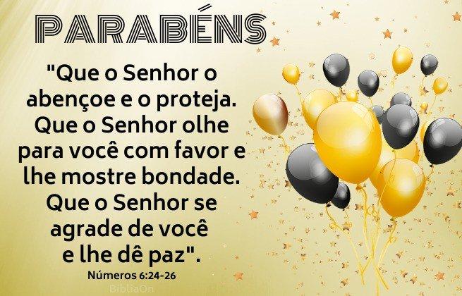 Imagens de balões pretos e dourados - Benção sacerdotal de Números 6:24-26