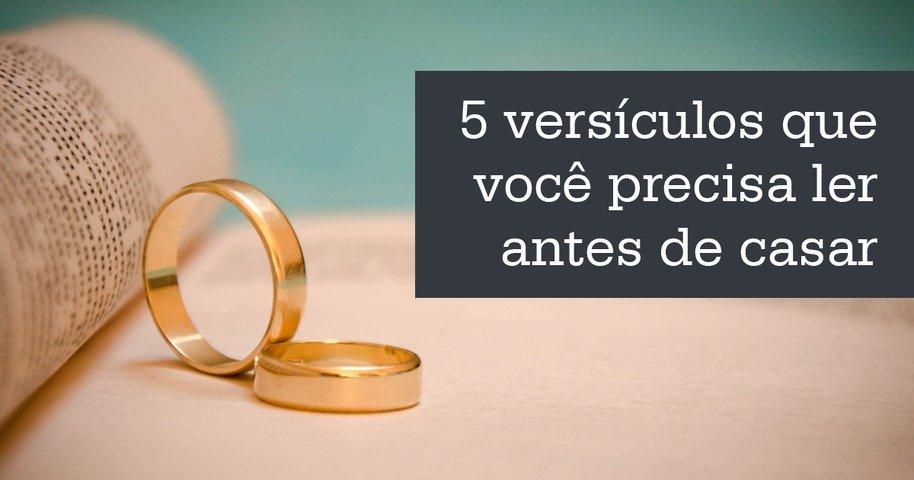 Fabuloso 5 versículos que você precisa ler antes de casar - Bíblia DV96